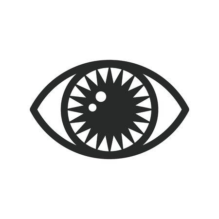 Eye symbol. Occult mystic emblem. Esoteric sign alchemy, providence sight, decorative style. Vector icon illustration isolated on white background.