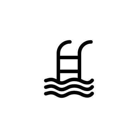 Swimming pool icon vector illustration isolated on white Ilustração