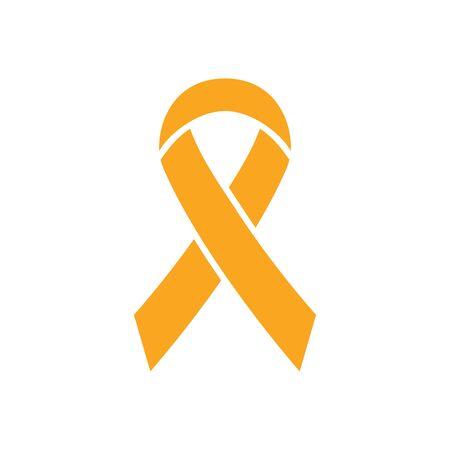 Ribbon icon. World Press Day symbol. Vector illustration isolated on white.