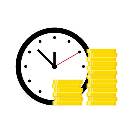 Time is money vector illustration isolated on white. Business concept.