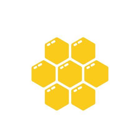 Honey comb vector illustration isolated on white Ilustracje wektorowe