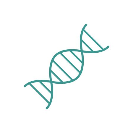 DNA icon. Vector illustration isolated on white Иллюстрация