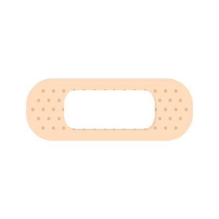 Medical plaster strip bandage. Cure bandages vector illustration isolated on white