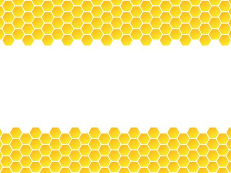 Abstract texture hexagon cell signs vector illustration background. Honeycomb bees hive cells pattern sign. Funny bee honey shapes vector icons for banner, card or wallpaper. Ilustração