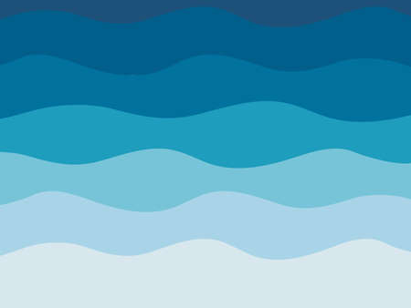 Water wave background vector illustration. Abstract blue and white background with copy space.
