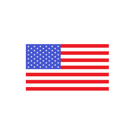 American flag wave vector isolated on white