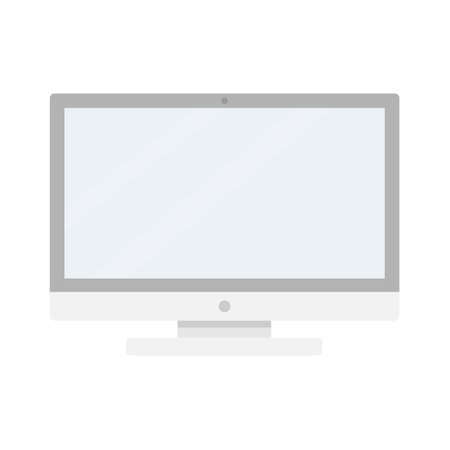Computer display vector illustration. Empty screen computer monitor in flat style. Monitor technology icon. Иллюстрация
