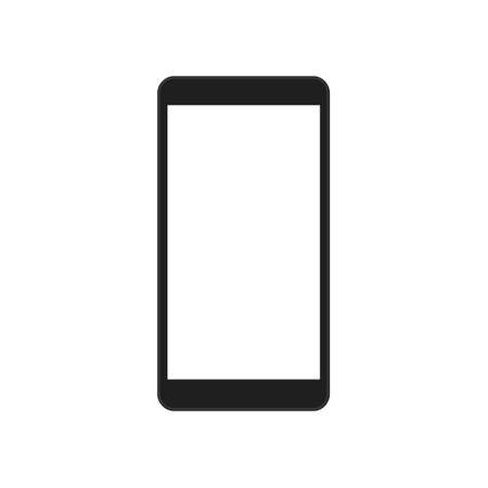 Mobile phone vector icon isolated. Smartphone shape with with empty screen.