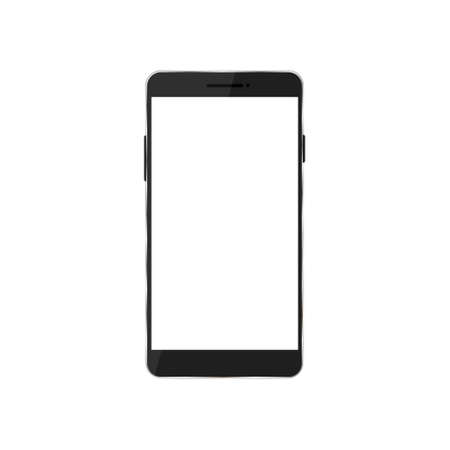 Mobile phone vector icon isolated. Smartphone shape with with empty screen. Vectores