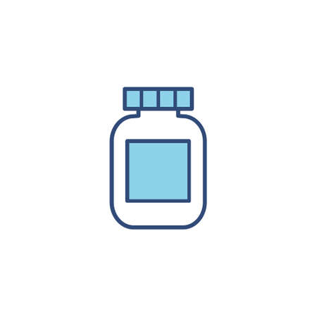 Vaccine blue line icon. Disease, flu, contaminated air, world pollution, pandemic concept set. Vector illustration in a flat style.