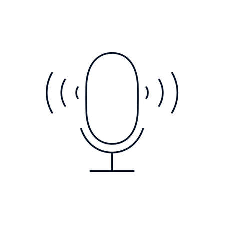 Microphone line icon vector illustration
