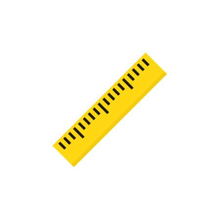 Ruler flat vector icon isolated on white Векторная Иллюстрация