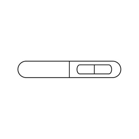 Not pregnant test line icon. Pregnancy test with negative result line symbol. Vector isolated on the white background