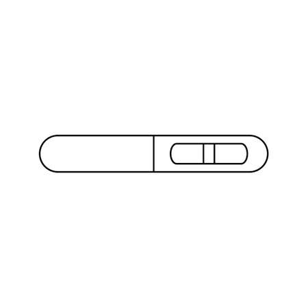 Pregnant test line icon. Pregnancy test with positive result line symbol. Vector isolated on the white background