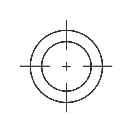 Target destination icon. Aim sniper shoot focus cursor bull eye mark. Vector isolated on white
