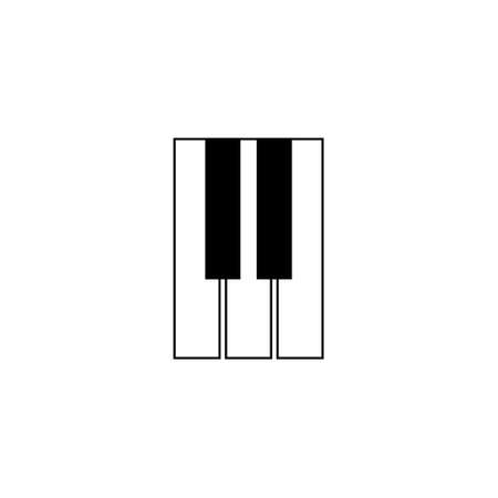 Piano keyboard icon. Music black symbol. Vector illustration isolated on white.