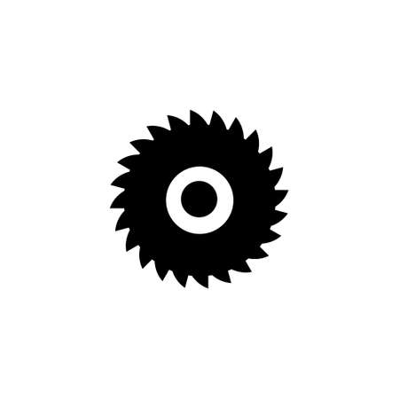 Sawmill black icon. Milling cutter symbol. Vector isolated on white. Vector Illustratie