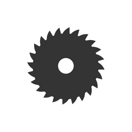 Sawmill black icon. Milling cutter symbol. Vector isolated on white. 向量圖像