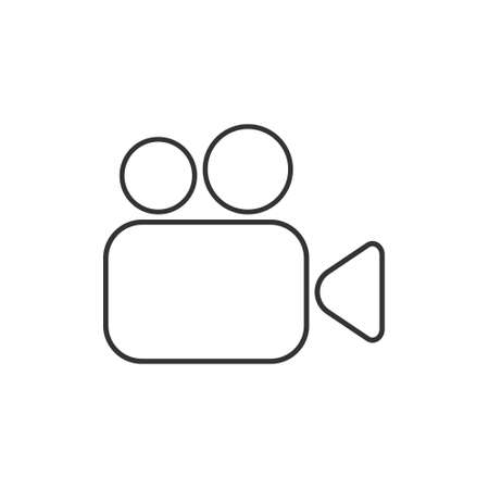 Video camera thin line icon. Cinema linear symbol isolated on white background