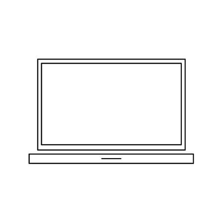Laptop vector illustration. Empty screen computer monitor in flat style. Monitor technology icon.