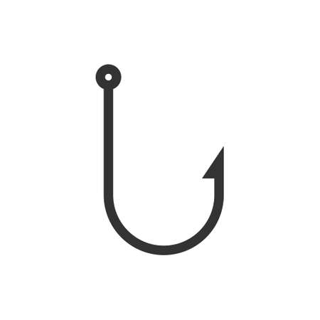 Fishing hook icon. Fish bait catch symbol. Vector isolated on white