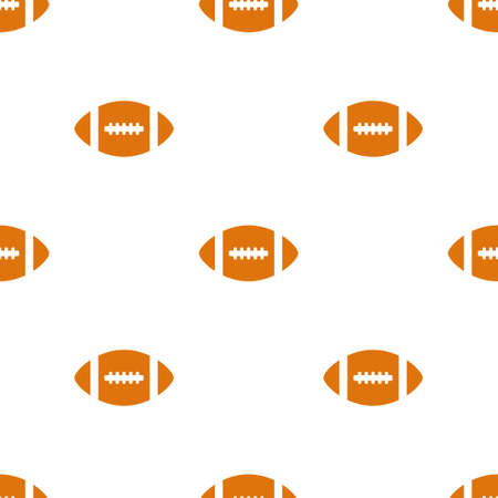 Seamless pattern with rugby balls. American football pattern white background. Sport design for wrapping paper backs. Vector illustration.