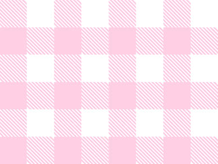 Pink and white Lumberjack plaid seamless pattern. Scottish cage. Simple vintage textile design. Tartan plaid concept. Abstract light checkered background