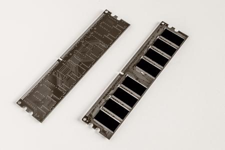 DDR RAM memory module, white background
