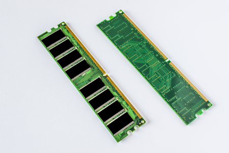DDR RAM memory module, white background