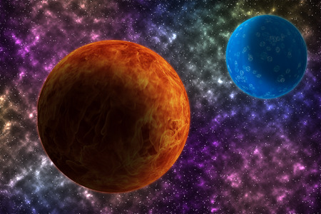 nibiru in space: Kosmoso, science fiction wallpaper. The beauty of a large cosmos. Billions of galaxies in the universe.
