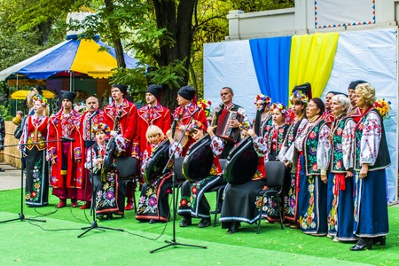 Cossack Choir. Speech of Cossacks with songs in Ukraine