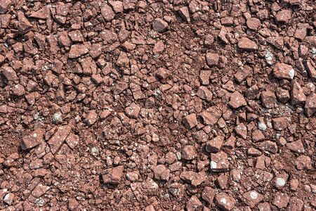 ph texture, gravel, crushed stone red tint with white sprinkles Imagens