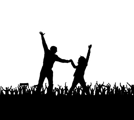 Silhouettes for sports and concert Vector