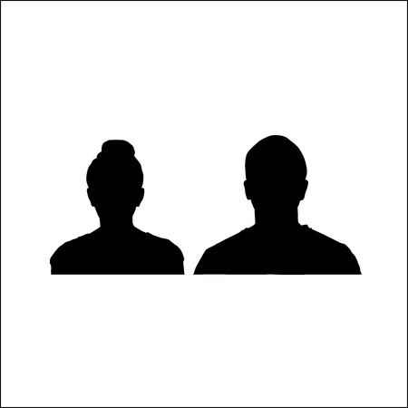 Silhouettes of people39s faces