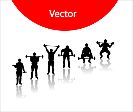 Vector silhouettes for sports Vector