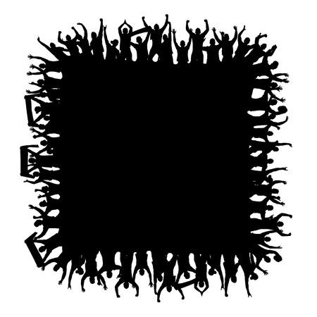 Background square with fans Illusztráció