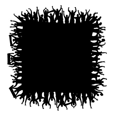 Background square with fans Illustration