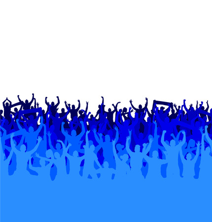 dancing people: Banner for sports championships and concerts Illustration