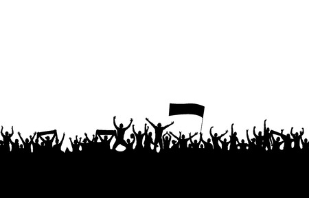スポーツの大会やコンサートのためのバナー  イラスト・ベクター素材