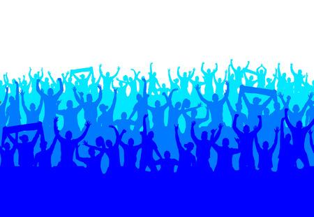 Papel pintado inconsútil de los fans de campeonatos deportivos y conciertos de música.