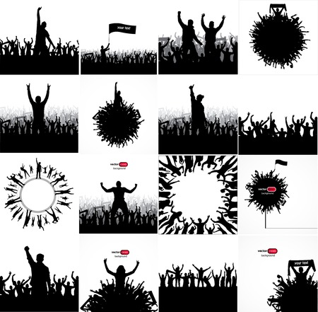 Posters for sports concerts and championships. Stock Illustratie