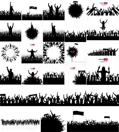 bannière football: Affiches pour les concerts et championnats sportifs. Illustration
