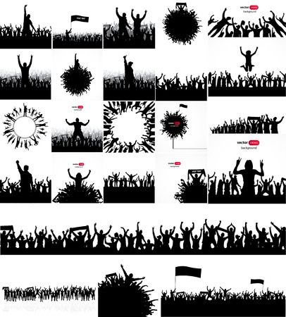 soccer stadium crowd: Posters for sports concerts and championships. Illustration