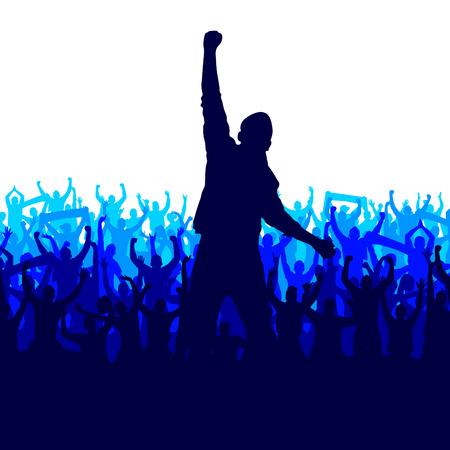 multitude: Banner for sports championships and concerts Illustration