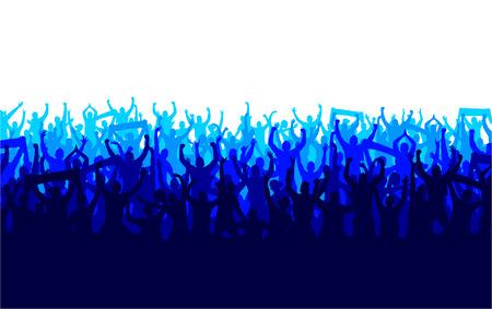 menschenmenge: Banner für Sport-Meisterschaften und Konzerte Illustration