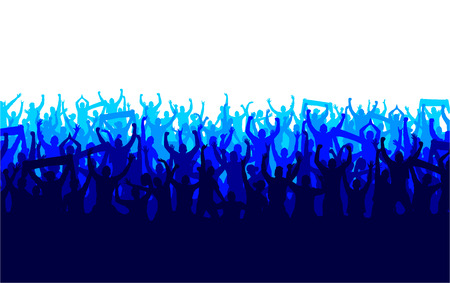 soccer stadium crowd: Banner for sports championships and concerts Illustration