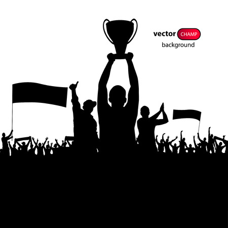 sporting event: Champions Cup. Poster Illustration