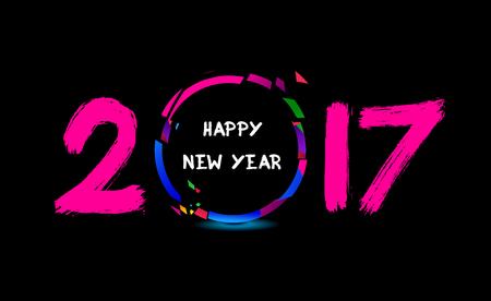crowd happy people: Happy New Year 2017 from the cheering people
