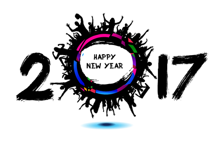 sport fan: Happy New Year 2017 from the cheering people
