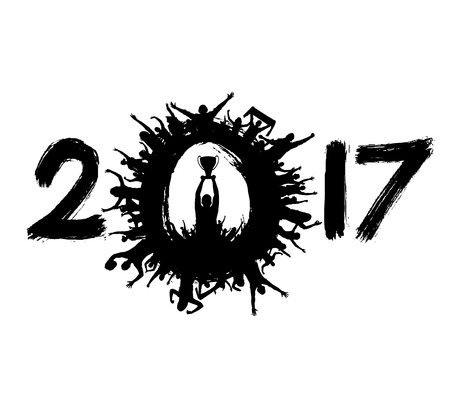 Happy New Year 2017 from the spot fans. Ilustração